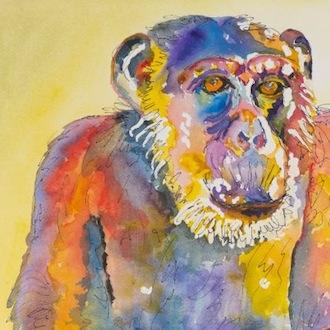 Missy watercolor by Margaret Parkinson