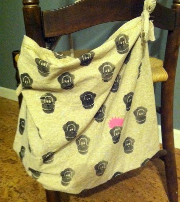 Jenny's chimp stamped bag